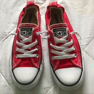 Converse red low tops